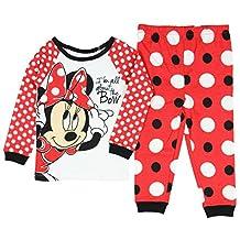 Disney Minnie Mouse Little Girls Toddler Long Sleeve Pajama Set