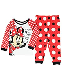 Disney Minnie Mouse Little Girls Toddler Long Sleeve Pajama Set