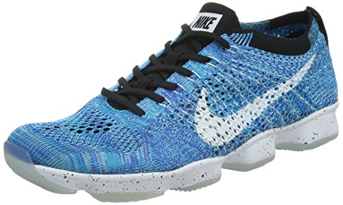 Nike Womens Flyknit Zoom Agility Running Shoes-Blue Lagoon/White-8