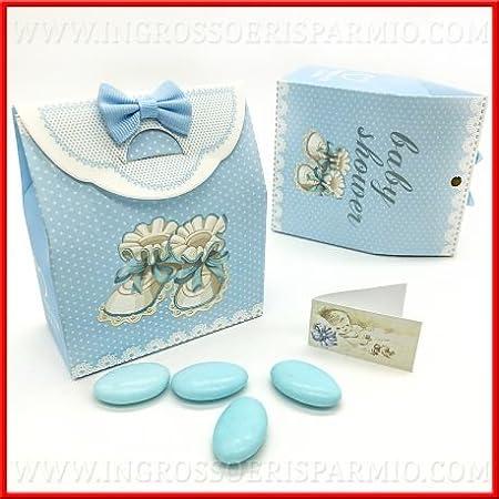 Caja para dulces (cartón duro con forma de bolsa Con Diseño a lunares blancos sobre base