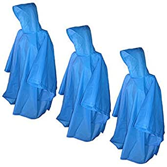 Totes Raines Adult Rain Poncho 3 Pack Assorted colors