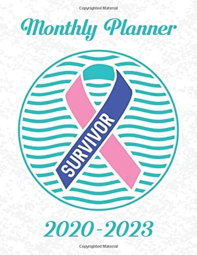 Thyroid Cancer Awareness Ribbon Survivor: 2020-2023 Four Year Monthly Planner Calendar, Notebook and More.