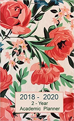 2 year planner 2018 2020 academic pocket planner weekly and