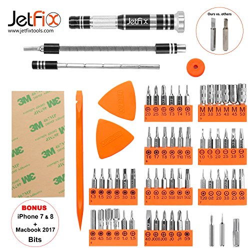 JETFIX Magnetic Precision Screwdriver SET for iPhones, PC, Electronic, Maintenance Samsung Galaxy, watch,3ways to use, Multi-functional Repair, Apple 6s Plus, Jewellers,Home All-in-one Tools Kit Drive