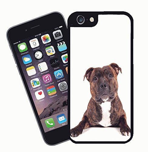 Staffordshire bull terrier phone case, design 2 - This cover will fit Apple model iPhone 7 (not 7 plus) - By Eclipse Gift Ideas