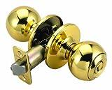 Design House 782938 Ball 2-Way Adjustable Entry Door Knob, Polished Brass