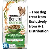 Purina Beneful Healthy Weight With Real Chicken (Healthy Weight With Real Chicken, 40 lb. – 2 Bag + Free Treats)