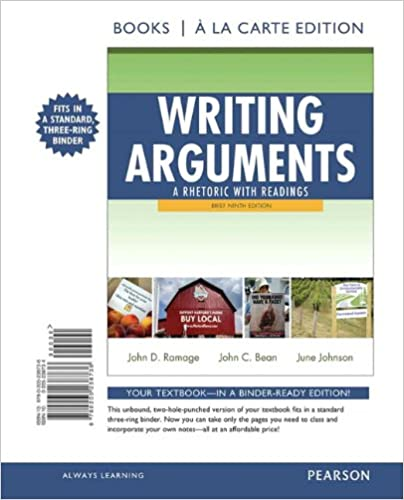 Amazon writing arguments a rhetoric with readings brief writing arguments a rhetoric with readings brief edition books a la carte edition 9th edition 9th edition fandeluxe Image collections