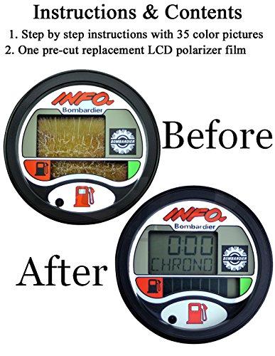 SeaDoo Repair Kit for LCD Info Gauge Center Display Fits MANY 1996-05 GTX GSX GTI LRV RX XP/LTD DI RFI by Jet Ski Plus (Image #1)