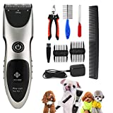 Pet Clipper Electric Hair Trimmer for Dog Grooming Rechargeable Cordless Professional Pet Hair