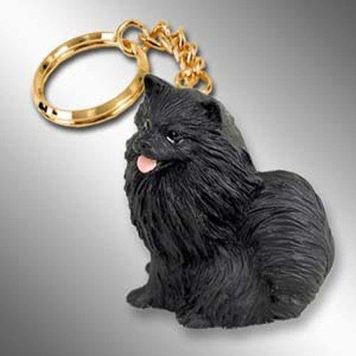 Conversation Concepts Pomeranian, Black Tiny Ones Dog Keychains (2 1/2 in)
