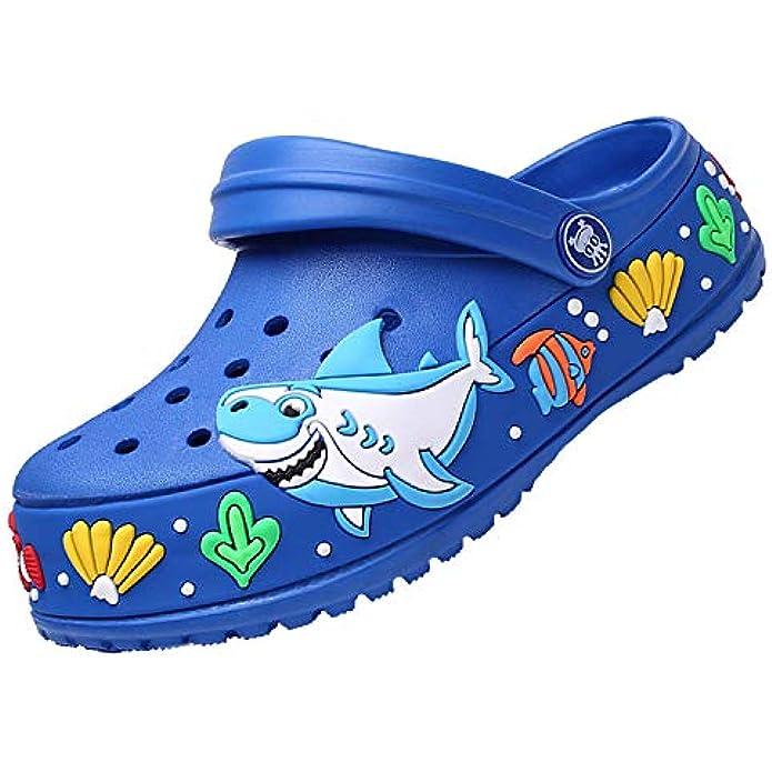 Girls Boys Clogs Shoes Cartoon Slides Sandals Little Kid's Slip-on Garden shoes Lightweight Beach Pool Shower Slippers