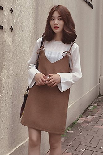 2018 autumn and winter fashion new Korean temperament long,sleeved dress  suspenders piece fitted skirts