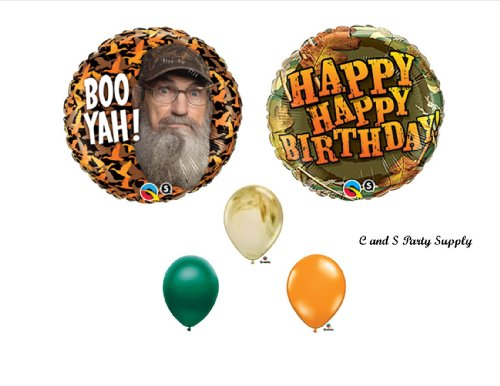 DUCK DYNASTY Uncle Si Camouflage Happy Birthday Party Balloons Favors Decorations -