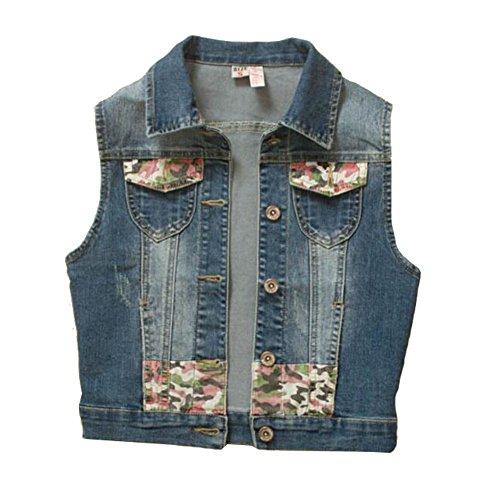 Stretch Chaleco Jacket Stitching Fashion slim Short Denim qA5PR