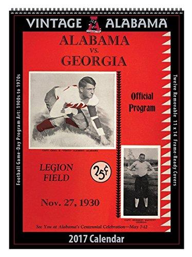 2017 Vintage Alabama Crimson Tide Football Calendar (Asgard Press compare prices)