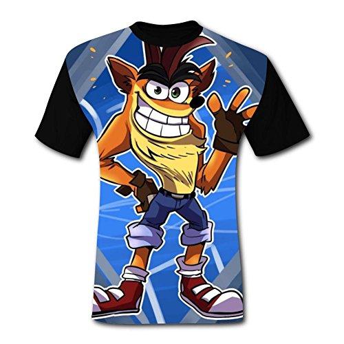- Crash-Bandicoot Men's Various 3D Printing DIY Tshirt Great Tee for Men