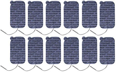 Dura-Stick Plus Electrodes Blue Foam Sticky Pads, 12 Count ()