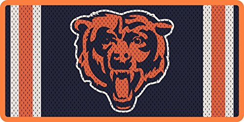 Stockdale Chicago Bears JERSEY Design Premium Laser Tag Acrylic Cut Inlaid Mirrored License Plate Football (License Laser Chicago Plate Bears)