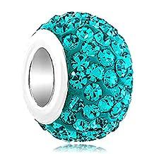 Jan-Dec Birthstone Charms Swarovski Elements Crystal Bead Fit Chamilia Charm Bracelet
