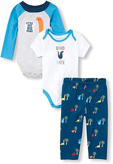 The Childrens Place Baby Boys 5 Pack Novelty Printed Layette Set
