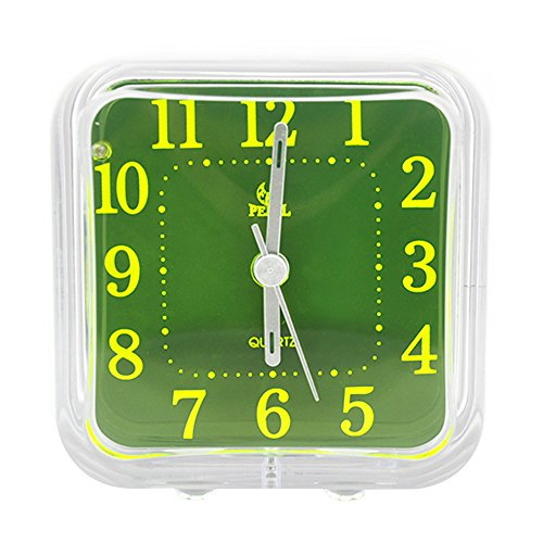 Non Ticking Analog Alarm Clock with Nightlight, Kaimao Mini Cute Desk Clocks for Students