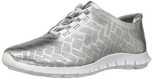 Trainer Argento Perforated White Haan Women's Optic Zerogrand Perf Genevieve Ch Leather Cole w1XqaO0