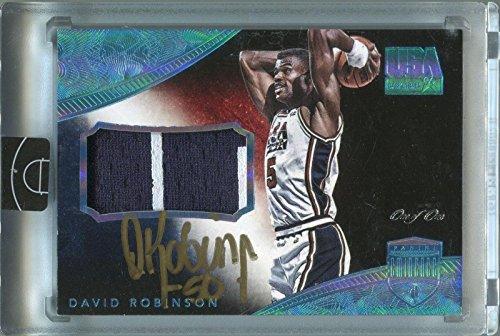 Autographed David Robinson Basketball - 2014 15 Panini Eminence #9 USA Patch #1 1 - Panini Certified (Robinson Basketball Autographed)