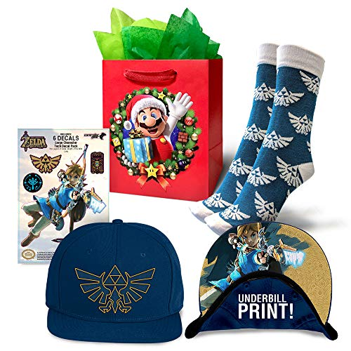 Controller Gear Authentic and Officially Licensed Nintendo Link Underbill Baseball Cap, Hyrule Crest Sock and Zelda…