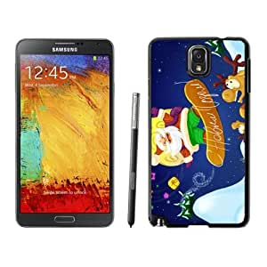 Note 3 Case,Sliding Plate Christmas Santa Claus TPU Black Samsung Galaxy Note 3 Cover Case,Note 3 Cover Case
