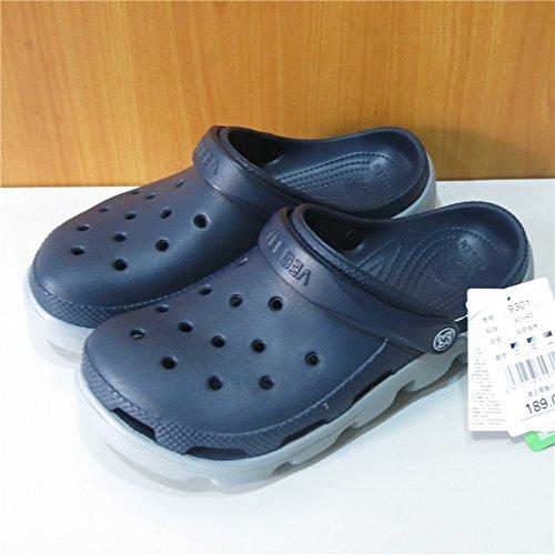Sandalias Calzado Playa Antideslizante Hombres Hueco Deportes Gray Para Patrón Llano Jardín Hombre Baotou Orificio Blue Lin De Xing Zapatos 0q8wp5pH