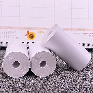 UkYukiko 5 rotoli di carta termica adesiva diretta 57 x 30 mm per PAPERANG