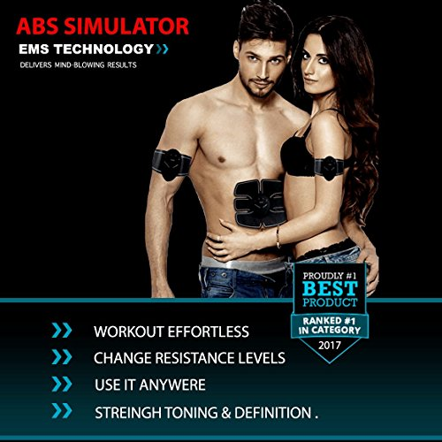 BP Fitness ABS STIMULATOR - Premium Equipment for Stomach Weight Loss & For Six-Pack Development - Portable for Training At Home/Work- For Men & Women