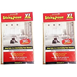 Sticky Paws XL Sheets (2 Pack, 10 Sheets Total)