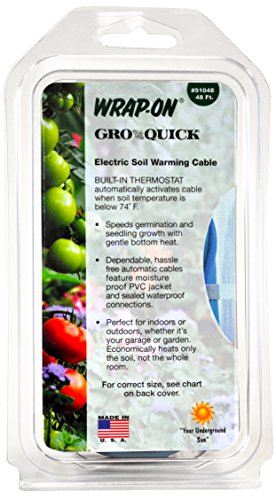 Wrap-On 51048 48' GRO-QUICK Soil Warming Cable 168 Watts 1.40 AMPS