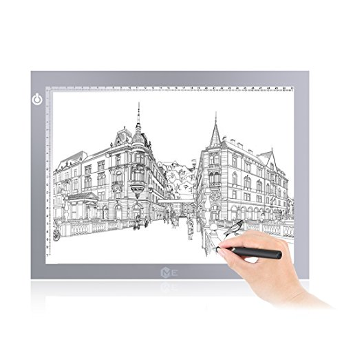 ME456 Light up Box - A4 USB Adjustable Illumination Light Panel only 5mm Thin Light Table(Silver) by ME456
