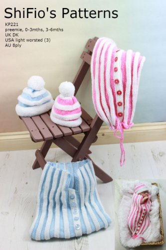 knitting pattern Pleated baby Cocoon 3 sizes
