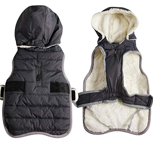 JoyDaog Fleece Dog Hoodie for Small Dogs Warm Puppy Jacket for Cold Winter Dog Coats with Hood