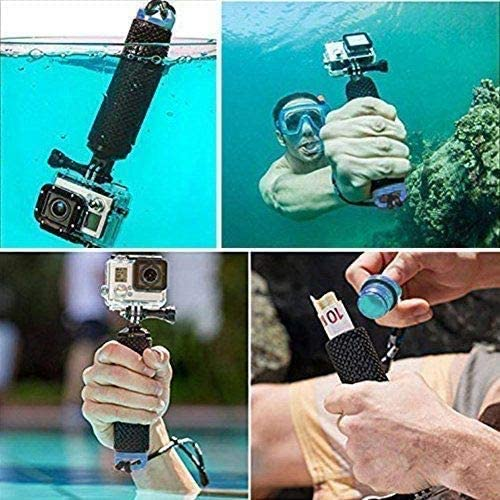 Compatible With The Dragon Touch 1080P Action Camera Navitech Floating Hand Tripod Handle Mount Grip