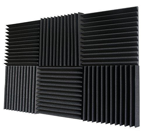 6 Pack- Acoustic Panels Studio Foam Wedges 2'' X 12'' X 12'' by Foamily