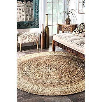 Amazon Com Icrafty Natural Jute Rug Hand Woven