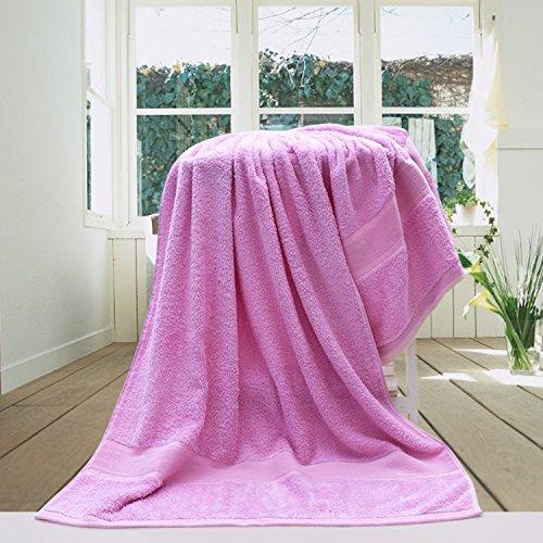 Sommer erfrischende Bambusfaser Handtücher dünnen Abschnitt erwachsenen männlichen und weiblichen Kohlenstoff weich als Baumwolle Baumwolle saugfähig, hell lila