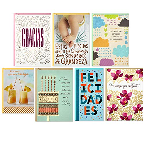 - Hallmark Vida Spanish All Occasion Cards Assortment (7 Cards and Envelopes)