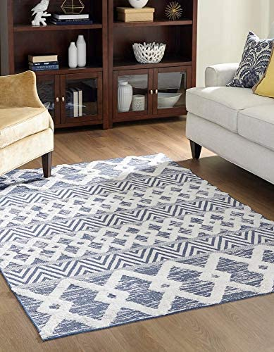 Best living room rug: Rugs.com Sabrina Soto Casa Collection Rug 8' x 10' Navy Blue High Rug Perfect