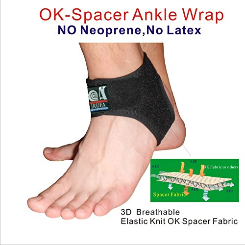 IRUFA, AN-OS-11,3D Breathable Elastic Knit Patented Fabric Adjustable Athletics Achillies Tendon Ankle Wrap, Plantar Fasciitis, Pain Relief for Sprains, Strains, Arthritis and Torn Tendons (XL) by IRUFA