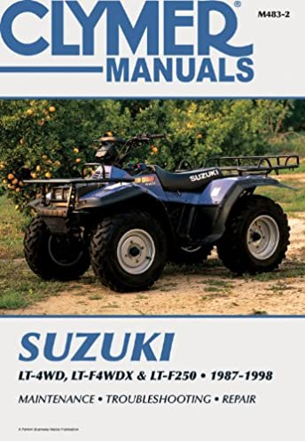 suzuki lt 4wd lt f4wdx lt f250 1987 1998 clymer motorcycle rh amazon com 1989 Suzuki Quadrunner 300 1987 Suzuki 230 Quadrunner