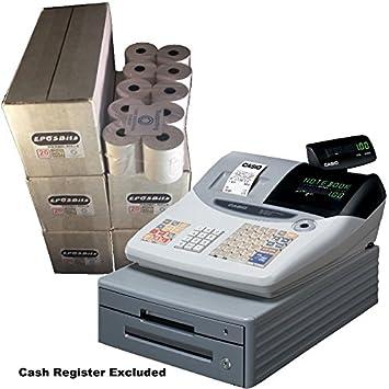 eposbits® marca rollos para Casio TE-100 caja registradora TE100 te 100 – 100