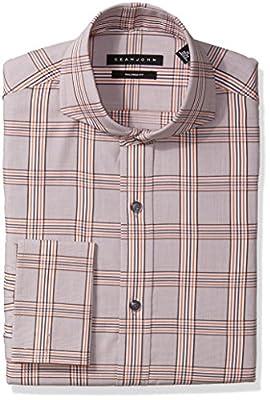 Sean John Men's Dress Shirt Regular Fit Plaid