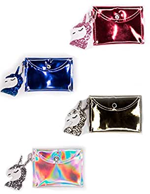 Amazon.com: cartera para niñas unicornio, holográfica ...