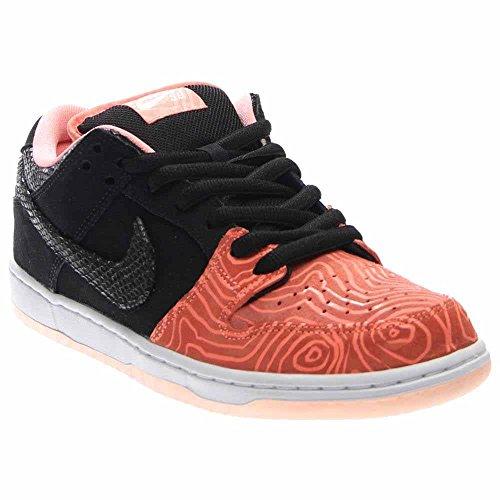 Nike SB Dunk Low Low Premium SB Herren Trainer 313170 Turnschuhe Schuhe Atomic Pink / Schwarz-Weiß